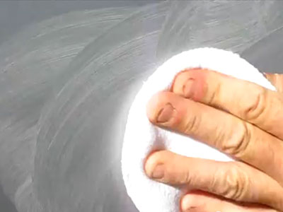 Applying rubbing compound